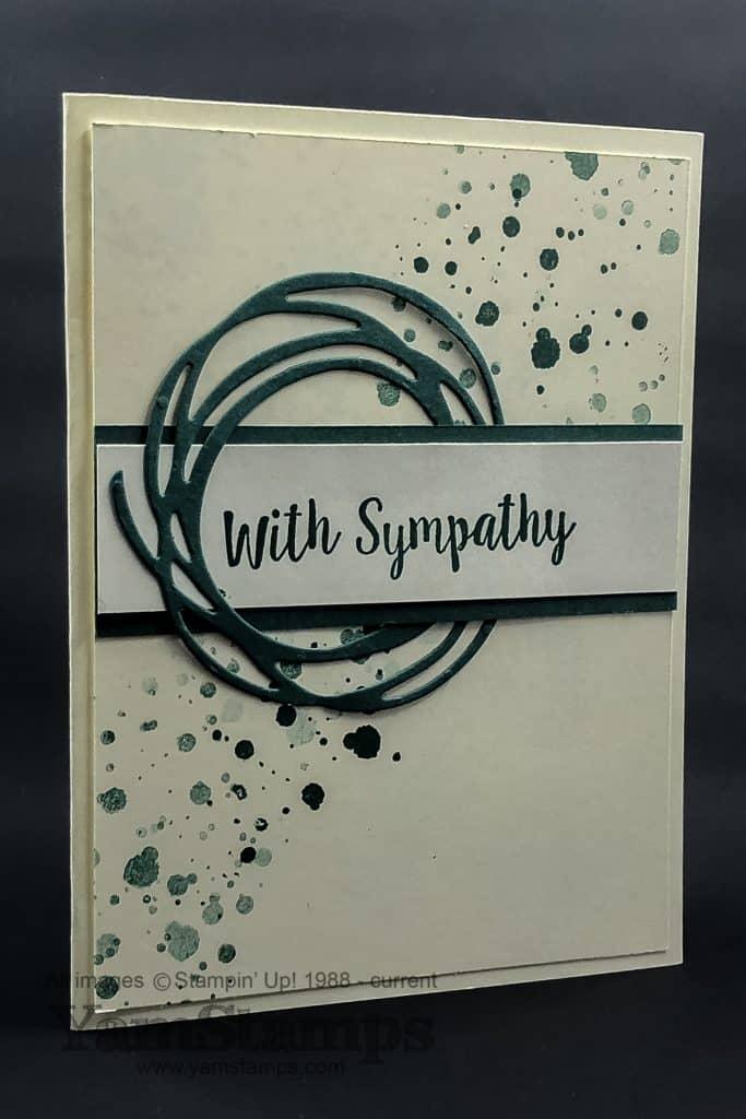 simple handmade sympathy card  yamstamps  linda's